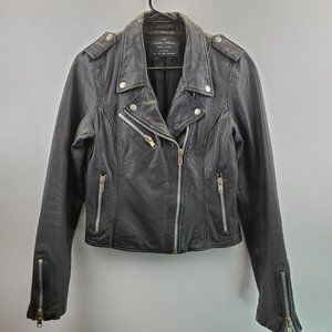 Zara 100% Lamb leather Moto Jacket